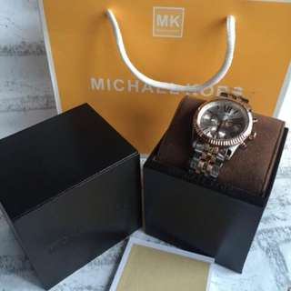 Michael kors rose gold silver 38.mm Ori bm
