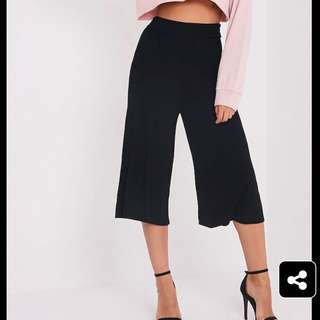 Fashion Nova Black Culottes
