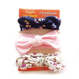 3IN1 HEADBAND SET - PINK WHITE (free shipping)