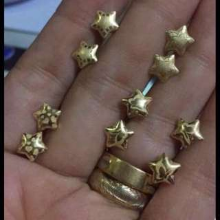 Pure Saudi gold Earings