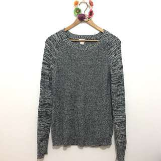 MOSSIMO Marble Grey Knitted Pullover
