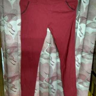 Jeans streetch maroon