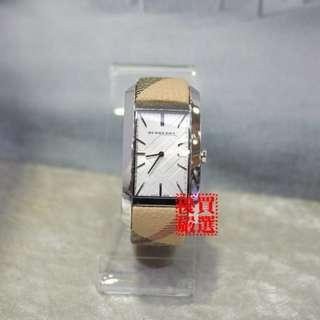 ☆優買二手名牌店☆ BURBERRY BU9406 經典 格紋 英倫風 方面 設計款 石英錶 錶況超新 I