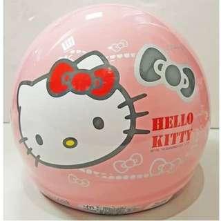 🚚 三麗鷗HELLO KITTY凱蒂貓寶貝粉小童半罩式安全帽