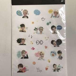 Exo emoticon sticker 已絕版