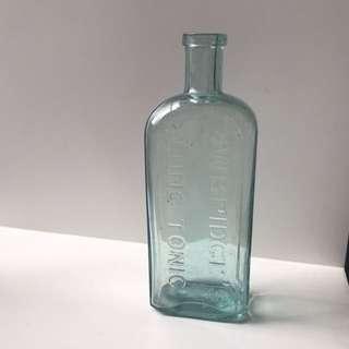 Vintage light blue Owbridge bottle