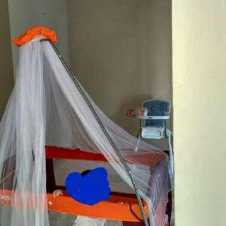 Box Bayi Baby Does+Spon alas tidur+Kelambu