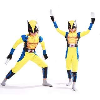 Wolverine Children Muscle Costume Hero Cosplay