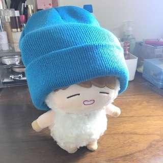 針織帽 藍色