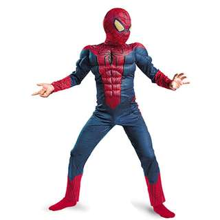 Spiderman Costume muscle Pretend Play For kids Children