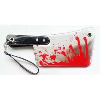 血腥 菜刀手袋 銀包