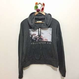 HOLLISTER Grey Hooded Sweater