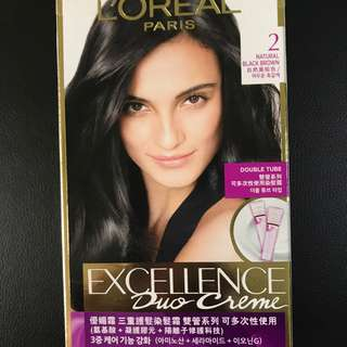 LOREAL--PARIS--HAIR COLORES in natural brown- new