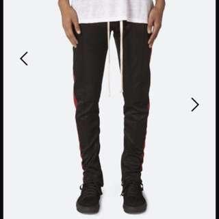 Mnml black track pants