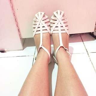 Genio Flat Shoes White