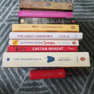 SGD10 FOR FULL SET of 9Preloved books on Indian theme