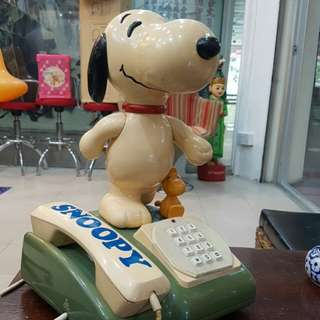 Vintage Snoopy Telephone Tomy Japan