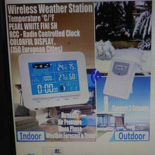 Wireless Color Display Weather Station In/ Outdoor Thermo Sensor Humidity Adapter