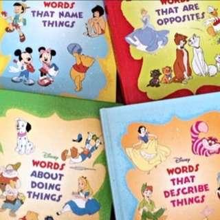 Grolier Disney words x 4 books