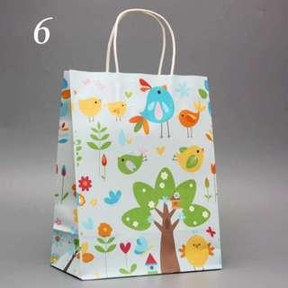 Good Quality Colourful Paper Bag (5 pcs)