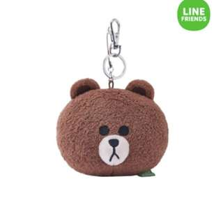 Authentic line bear keychain