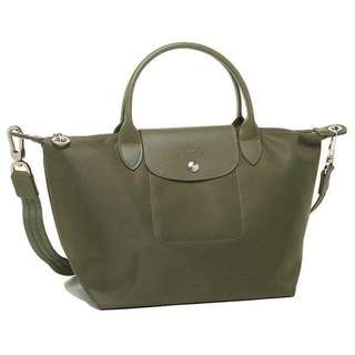 Super Sale!!!Authentic longchamp neo small moss green