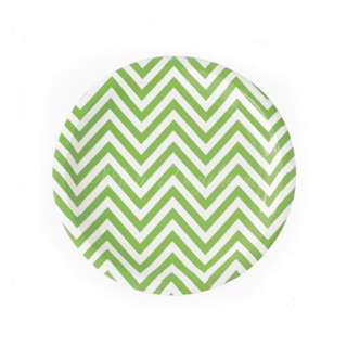 Chevron Small Plates Value Pack 7″ (Set of 12) – Apple Green