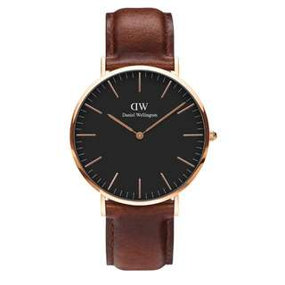 100% Original [CNY SALES] Daniel Wellington Watch Classic Black Collection St Mawes Rose Gold 36mm / 40mm Free Delivery