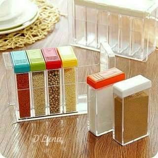 RBU - Spicy Rak 6 In 1/ Rak Tempat Bumbu 6 in 1 Seasoning Box