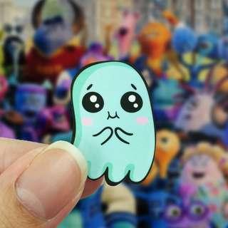 Lunarbay 3 x Cute Spooky Jelly Vinyl Sticker Cute Sticker Decal (Pack of 3)