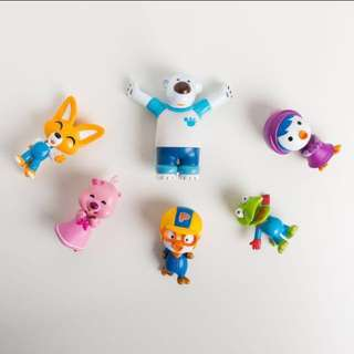 **LIMITED READY STOCK**Pororo Figurine/ Cake Topper - 6 pcs in 1 set