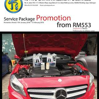 Service Package Promotion for Mercedes-Benz