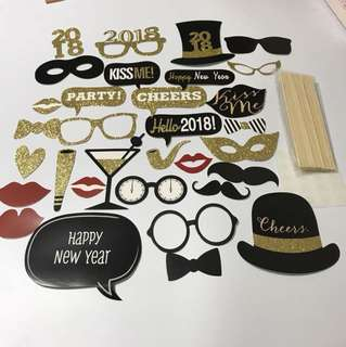 2018 New Year shinning photo booth props - 30pcs