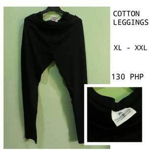 Black Cotton Leggings
