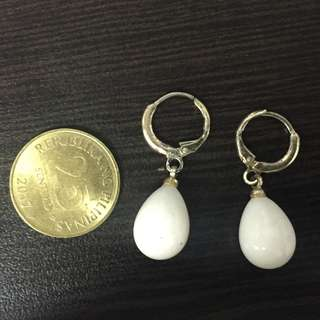 White Drop Earrings Code (fancy)