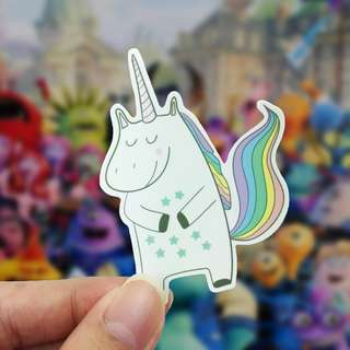 Lunarbay Unicorn Happy Vinyl Sticker Cute Sticker Laptop Decal / Craft Supplies