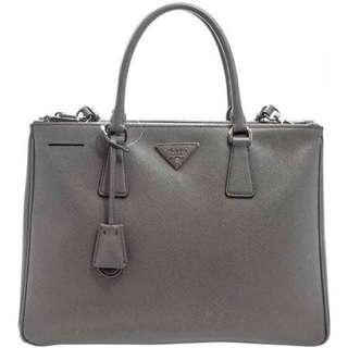 PRADA Saffiano Lux Double Zipped Bag - BN1801