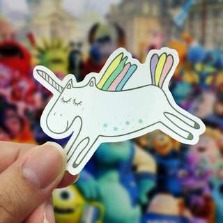 Unicorn Fly Vinyl Sticker Cute Sticker Laptop Decal / Craft Supplies