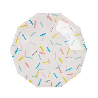 Colourful Sprinkles Small Decagon Plates 7″ (Set of 12)
