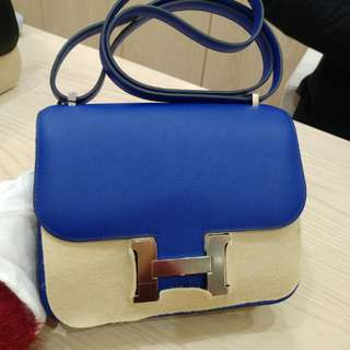 Hermes constance 19 electric blue