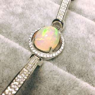 Authentic Opal Bracelet ~ 925 Silver