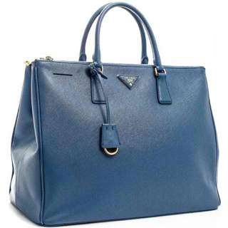 PRADA Saffiano Lux Double Zipped Bag - BN1802