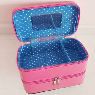 🔴FOLLOWERS BETTER PRICE!(Click following in profile)🔴🐰JAPAN ETTUSIAS - AUTHENTIC BRAND NEW BOX (Clean)🐰PINK PRINCESS 2 LAYERS WITH MIRROR Box/ Pouch (Spacious + Great for travelling)💋See description=better deals!💋 No Pet No smoker clean House