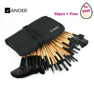 32 pc eyebrow makeup brush kit