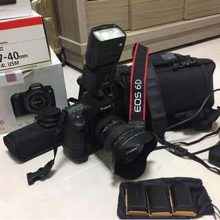 Canon6d+電池手把+430EX2閃燈+17-40F4(lowepro相機包)