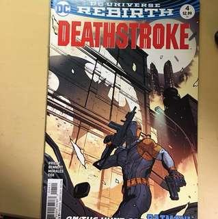 美漫散書期刊3本 蝙蝠俠batman ,美國隊長 captain america ,deathstroke