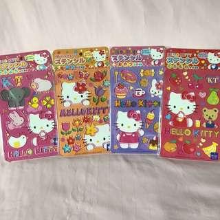 Hello Kitty stencils set of 4 to draw hello kitty easily