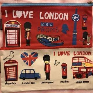英國紀念文具袋