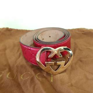 Authentic red Gucci belt