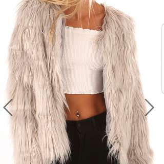 BRAND NEW WITH TAGS | Faux Fur Jacket.